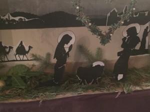 Victorian nativity silhouette